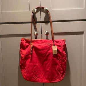 J. Crew Red tote bag NWT